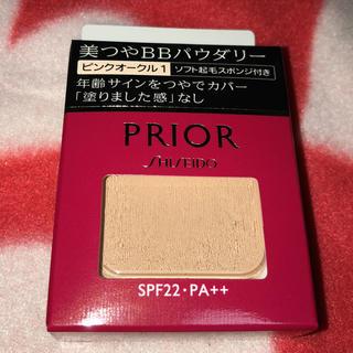 プリオール(PRIOR)の美つやBBパウダリー ソフト起毛スポンジ付き  ピンクオークル1(ファンデーション)