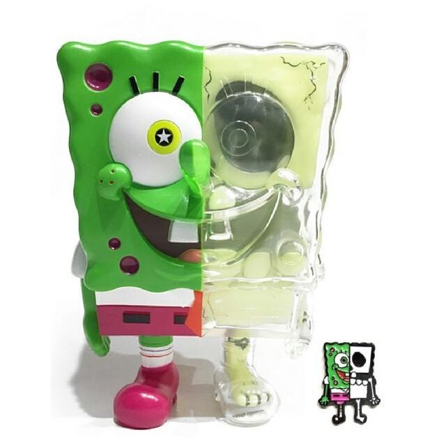 SECRETBASE(シークレットベース)のrYo様専用 SECRETBASE SPONGEBOB スポンジボブ 畜光 エンタメ/ホビーのおもちゃ/ぬいぐるみ(キャラクターグッズ)の商品写真