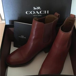 コーチ(COACH)の美品 コーチ  ショートブーツ   (ブーツ)