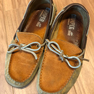 カンペール(CAMPER)の専用    カンペール スェード  オレンジ×ベージュ(ローファー/革靴)