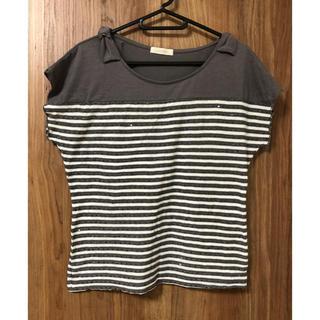 プーラフリーム(pour la frime)のスパンコールのボーダーカットソー(Tシャツ(半袖/袖なし))