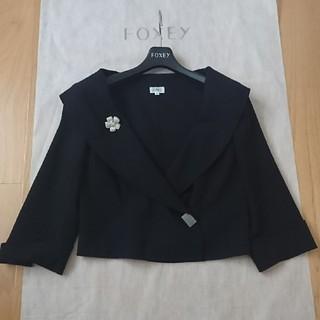 フォクシー(FOXEY)のFOXEY フォクシー 女優襟ジャケット 40 ネイビー(テーラードジャケット)