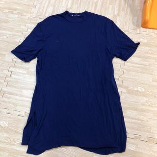 ザラ(ZARA)のZARA ブルーロングTシャツ  マタニティ用にもオススメ(マタニティウェア)