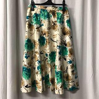アニオナ(Agnona)の美品 NONA ノーナ スカート 花柄 上品 フラワープリント(ロングスカート)