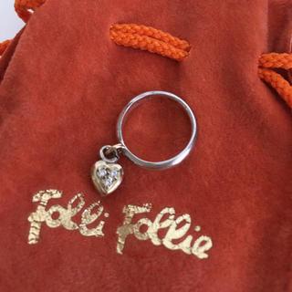 フォリフォリ(Folli Follie)のフォリフォリ  チャーム付きピンキーリング3〜4号(リング(指輪))