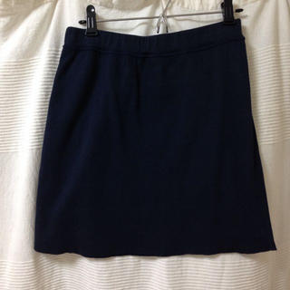 プチバトー(PETIT BATEAU)のネイビー   スウェットスカート(ミニスカート)