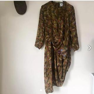 アッシュペーフランス(H.P.FRANCE)のanntian アンティアン H.P.FRANCE購入シルク ドレス ワンピース(ひざ丈ワンピース)