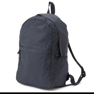 ムジルシリョウヒン(MUJI (無印良品))の無印良品 たためるリュック 収納袋付き 黒(リュック/バックパック)
