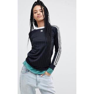 アディダス(adidas)の【 Mサイズ】adidas 新品タグ付 3ストライプ ロンT ブラック(Tシャツ(長袖/七分))