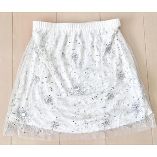マーキュリーデュオ(MERCURYDUO)の未使用♡マーキュリーデュオ♡ビジュー♡レース♡スカート♡(ミニスカート)
