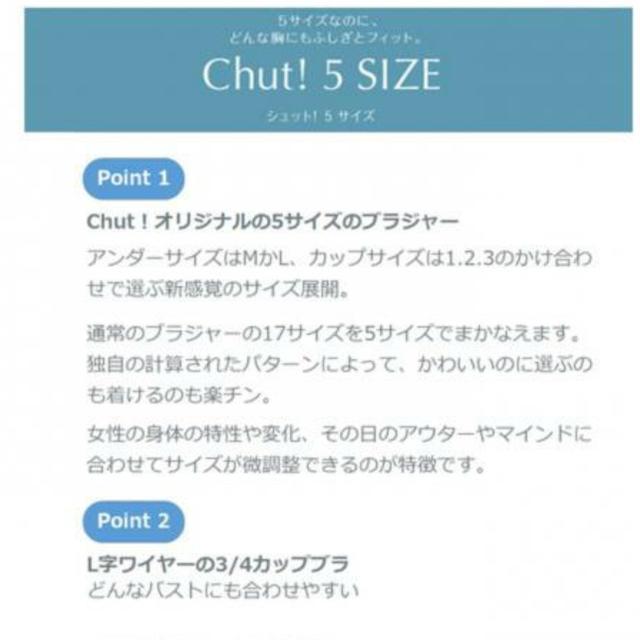Triumph(トリンプ)の新品】Chut!5SIZE BRA ドレスイージーブラ  レディースの下着/アンダーウェア(ブラ)の商品写真