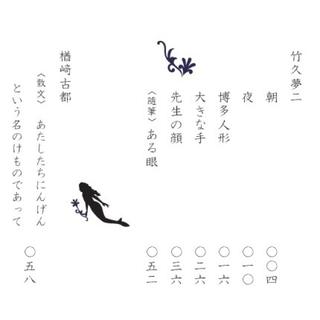 「星屑と人魚と夢二(豆本)」星屑と人魚❼ 2017春夏号 ★ラスト6冊!!(文学/小説)