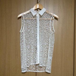 ジーユー(GU)の透けレーストップス(シャツ/ブラウス(半袖/袖なし))