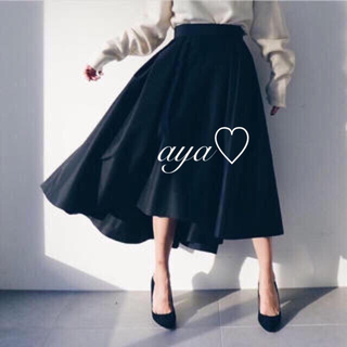 フレイアイディー(FRAY I.D)のFRAY I.D人気♡タフタアシメスカート(ロングスカート)