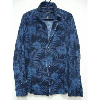 ダブルジェーケー(wjk)のwjk ダブルジェイケイ ◆ 花 ボタニカル 柄 コットン 長袖 シャツ    (シャツ)