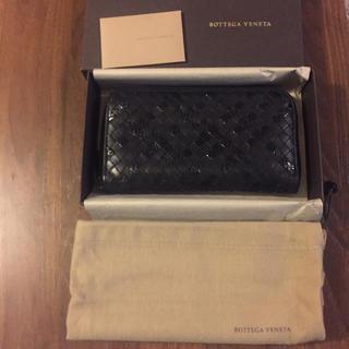 ボッテガヴェネタ(Bottega Veneta)のBOTTEGA VENETAボッテガヴェネタパイソンブラック財布長財布(長財布)
