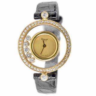 ショパール(Chopard)の美品✨Chopard ショパール ハッピーダイヤモンド ダイヤベゼル✨腕時計(腕時計)