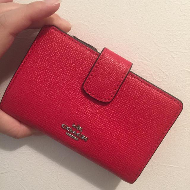wholesale dealer 5633a a3bcc COACH(コーチ) ミニウォレット 赤 | フリマアプリ ラクマ