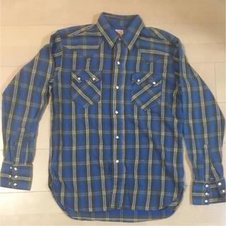 シュガーケーン(Sugar Cane)のシュガーケーン 青チェックウエスタンネルシャツ(シャツ)