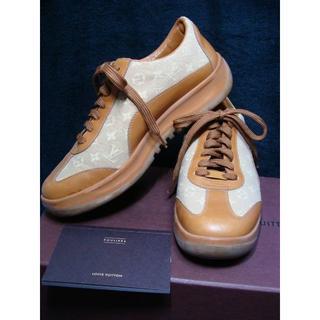 ルイヴィトン(LOUIS VUITTON)のルイヴィトン ◆ レザー キャンバス モノグラム ロゴ スニーカー シューズ 靴(スニーカー)
