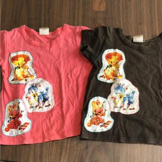 ラフアンドチープ(LAUGH & CHEAP)のラフ&チープ アニマルパッチTシャツ 110 2枚セット(Tシャツ/カットソー)