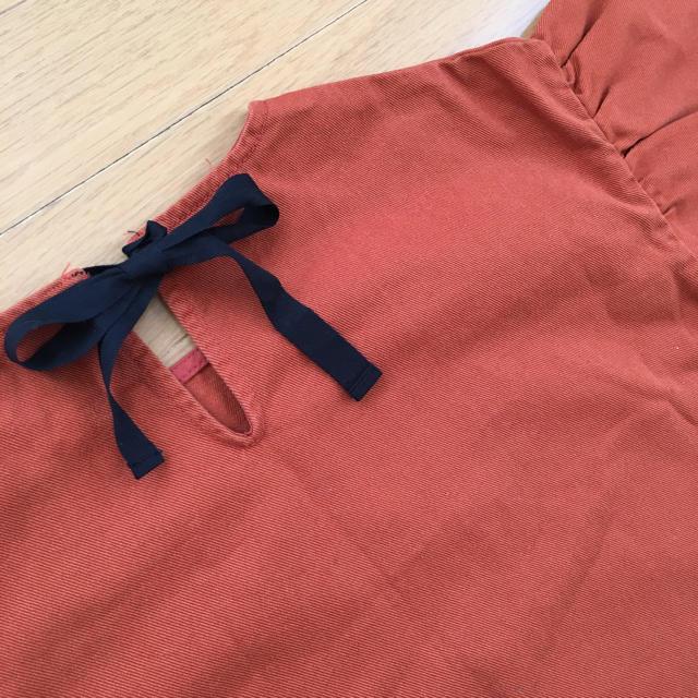 sale!新品◯韓国子供服◯ドロップショルダーダメージワンピース◯130 キッズ/ベビー/マタニティのキッズ服 女の子用(90cm~)(ワンピース)の商品写真