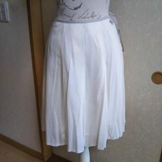 イヴマリアージュ(EVE MARIAGE)の新品 お値下げ中 お値下げ中柔らかいジャージー素材のタックスカート(ひざ丈スカート)