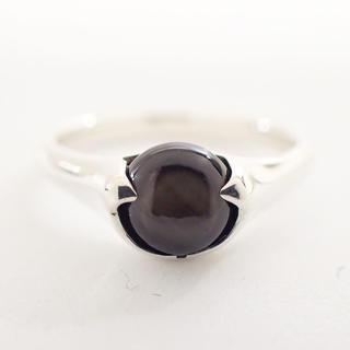 ヨンドシー(4℃)の【未使用】4℃ リング 指輪 925 ラインストーン ブラックストーン Z0481(リング(指輪))
