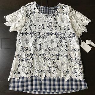 アトリエシックス(ATELIER SIX)の「ATELIER SIX」新品タグ付☆レース&チェックTシャツ☆(Tシャツ(半袖/袖なし))