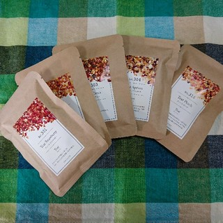 TEAtrico ティートリコ 食べれる紅茶 選べる10gサイズ色々5点セット (茶)