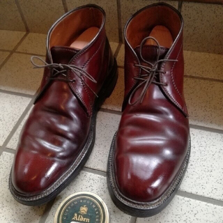 オールデン(Alden)の期間限定 値下げ  オールデン チャッカブーツ コードバン バーガンディ(ブーツ)