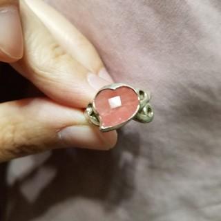シルバー925ピンキーリング5号 チェリークォーツ(人工石)(リング(指輪))