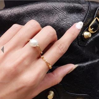 サマンサティアラ(Samantha Tiara)の新品♡enjoueel♡パールリング(リング(指輪))