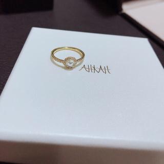 アーカー(AHKAH)のAHKAH ヴィヴィアンローズリング  美品(リング(指輪))
