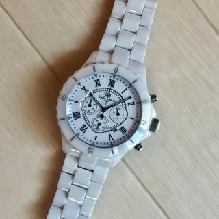 伊製 ドルチェメディオ ホワイト白セラミック腕時計 シャネルJ12(腕時計)