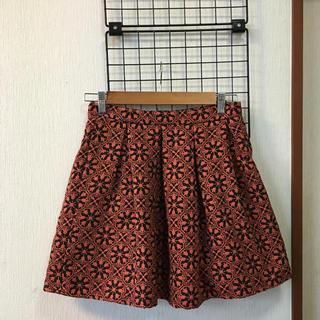 ローリーズファーム(LOWRYS FARM)のローリーズファーム モード系 花柄スカート ミニ Lサイズ(ミニスカート)