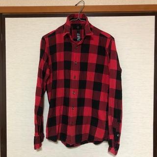 ダブルジェーケー(wjk)のwjk ブロックチェックシャツ 赤  S   AKM 1piu ジュンハシモト(シャツ)