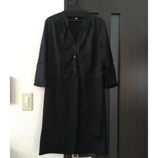 ムジルシリョウヒン(MUJI (無印良品))の無印良品♡黒ワンピース(ひざ丈ワンピース)