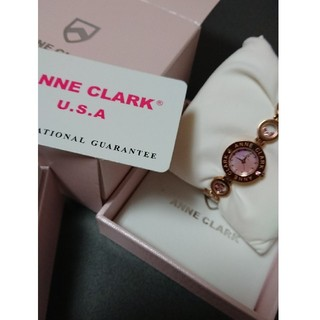 アンクラーク(ANNE CLARK)の値下げ  ANNE-CLARK U.S.A カラーストーン入りブレス腕時計(腕時計)