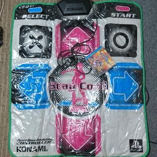 プレイステーション(PlayStation)のコナミ ダンスレボリューション シートコントローラー  ソフト付き(その他)