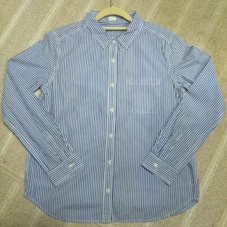 ジーユー(GU)のブルーストライプシャツ(シャツ/ブラウス(長袖/七分))