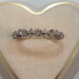 プラチナ ハーフエタニティ リング ダイヤ 0.60ct(リング(指輪))