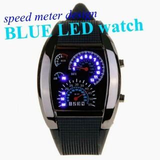 スピードメーターデザイン腕時計(腕時計(デジタル))