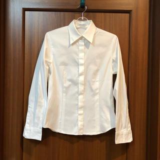 グラスライン(Glass Line)の美品  グラスラインの白の長袖シャツ(シャツ/ブラウス(長袖/七分))