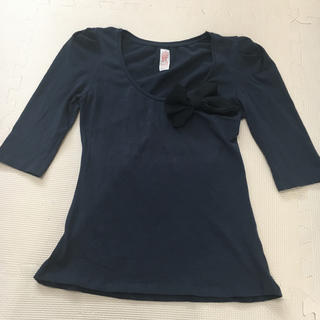 ザラ(ZARA)のZara TRF ネイビー 半袖 カットソー &フィギュア(カットソー(半袖/袖なし))