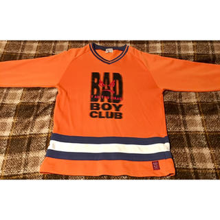 バッドボーイ(BADBOY)のBAD BOY オレンジ長袖トレーナー サイズ160(スウェット)