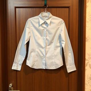 グラスライン(Glass Line)の美品 グラスラインのライトブルーのシャツ(シャツ/ブラウス(長袖/七分))