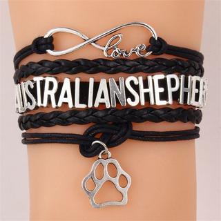 オーストラリアンシェパード チャームブレスレット♪ 新品未使用品 送料無料(犬)