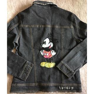 ディズニー(Disney)のGジャン ミッキー  160 新品 未使用(Gジャン/デニムジャケット)