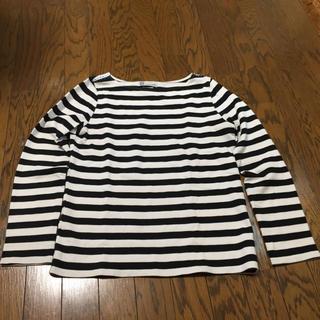 ヴィスヴィム(VISVIM)のvisvim womens ボーダー カットソー サイズ2 黒白(Tシャツ(長袖/七分))